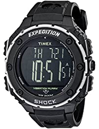 Mens T49950 Expedition Shock XL Vibrating Alarm Black Resin Strap Watch