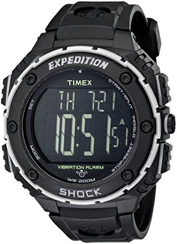 [Sponsored] Timex Men's T49950 Expedition Shock XL Vibrating Alarm Black Resin Strap Watch