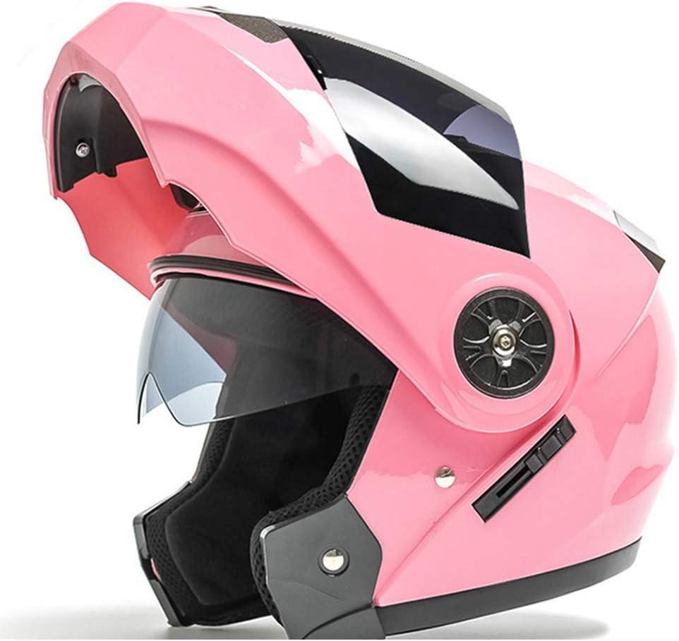 Tama/ño S-M-2XL55-64CM QZFH Flip Up Casco de Moto Moto Lente Doble Modular Motocross Moto Casco Crash Cascos integrales