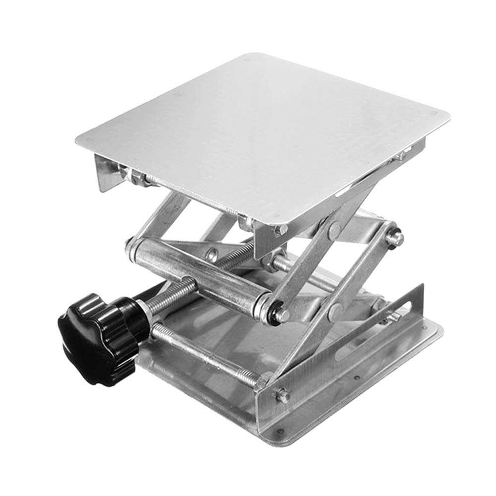 Festnight Stainless Steel Mini Stable Lab Stand Manual Lift Riser Lifter Laboratory Lifting Platform by Festnight (Image #3)