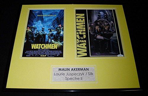 Malin Akerman Signed Framed 16x20 Photo Set JSA Watchmen Silk Spectre II -