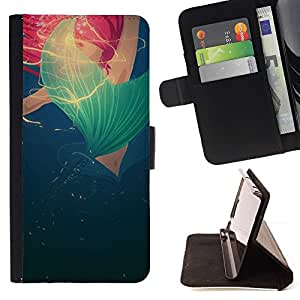 Momo Phone Case / Flip Funda de Cuero Case Cover - Bleu Rouge Rose Poppy Printemps Eté - Samsung ALPHA G850