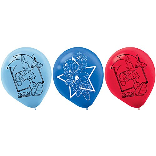 Sega Sonic The Hedgehog Assorted Colors Latex Balloons, Party Favor