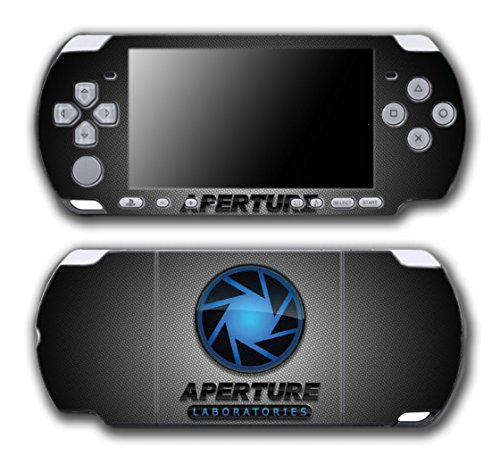 Portal 1 2 Gun Chell Gladdos Wheatley Aperture Laboratories Video Game Vinyl Decal Skin Sticker Cover for Sony PSP Playstation Portable Slim 3000 Series System