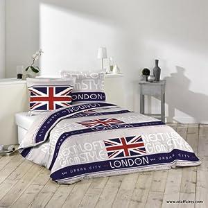 Deco chambre couette et linge de maison londres et drapeau - Housse de couette drapeau anglais 200x200 ...