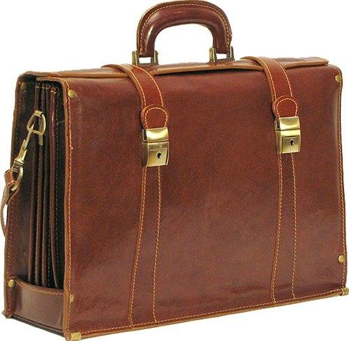 (Floto Trastevere Brief 64 Leather Briefcase Black)