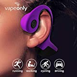 Bone Conduction Headphones Bluetooth Wireless Titanium HiFi Stereo with Mic for Running Driving Cycling Waterproof Open Ear Sports Headsets for Android (Purple)