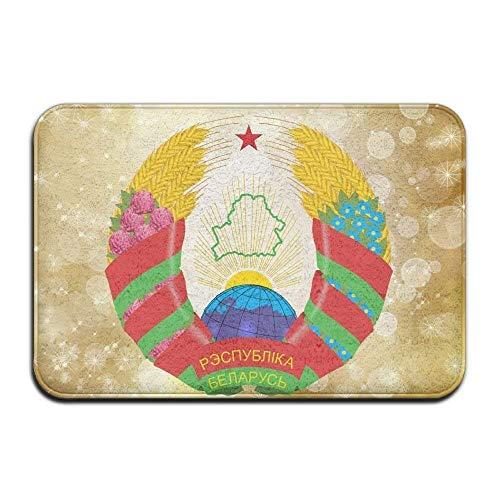 - Official Coat of Arms of The Republic of Belarus Doormats Unique Outdoor Mats Anti-Skid Bathroom Doormats Lovely Kitchen Mat
