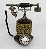 Retro style push button dial desk telephone(cylindre) / Home decorative # 1721