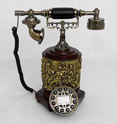 (Retro style push button dial desk telephone(cylindre) / Home decorative #)
