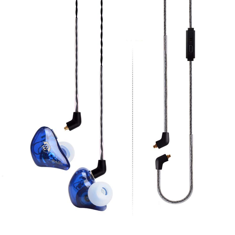 BASN Bsinger Pro in Ear Monitor Headphone Universal Fit Noise Cancelling Earphone for Musician Singer Band Studio Audiophile