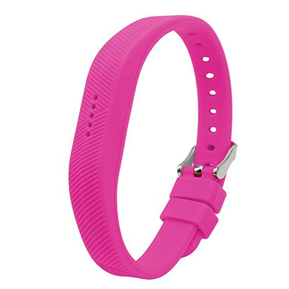AloneAソフトシリコン時計バンド手首ストラップfor Fitbit Flex 2 Smart Watch ホットピンク ホットピンク B01M7QMLVI