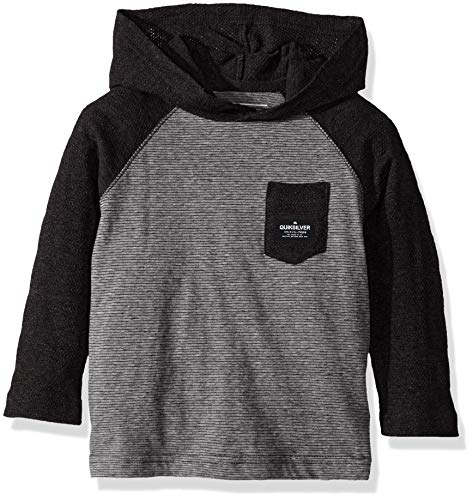 Quiksilver Little Michi Hood BOY Knit Crew, Dark Grey Heather 4