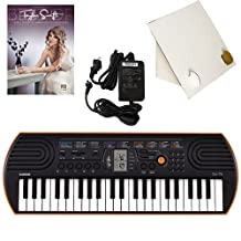 Casio SA-76 44 Key Mini Keyboard Deluxe Bundle Includes Bonus Casio AC Adapter, Desktop Music Stand & Taylor Swifts Beginning Piano Solo Songbook