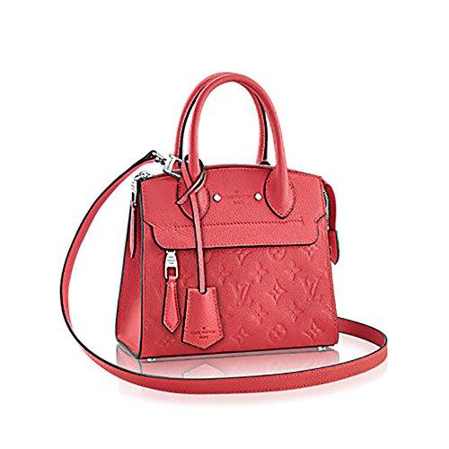 Louis Vuitton Monogram Mini - Authentic Louis Vuitton Empreinte Leather Pont-Neuf Mini Tote Cross Body Handbag Article: M41747 Poppy