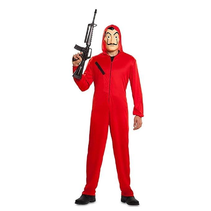 Amazon.com: La Casa De Papel Costume Cosplay Red Jumpsuit ...