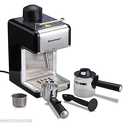 Steam Press Coffee Maker : 800W Stainless Steel Steam Coffee Maker Espresso Machine Cappuccino Latte 4-Cup - Gourmet Coffee ...