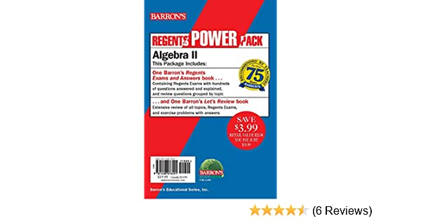 Algebra II Power Pack (Regents Power Packs): Gary M