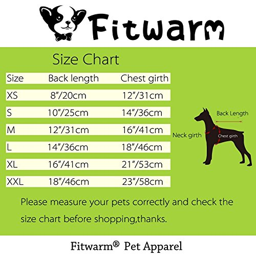 Fitwarm Flamingo Pet Clothes for Dog Pajamas PJS Shirts Jumpsuit Pink Small by Fitwarm (Image #6)