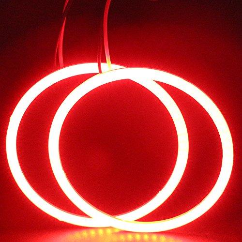 GrandviewTM 2x 70mm 60SMD COB Led Angel Eyes Headlight Halo Ring Warning Lamp-Blue
