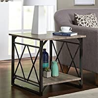 Simple Living Seneca XX Black/ Grey Reclaimed Look End Table by Garden at Home