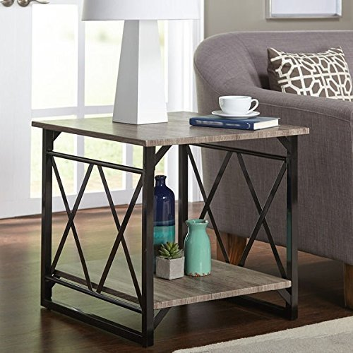 Best simple living seneca xx reclaimed look end table – Simple Living Seneca XX Black/ Grey Reclaimed Look End Table by Garden at Home