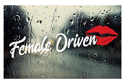 Female Driven Lips car window DECAL - 9