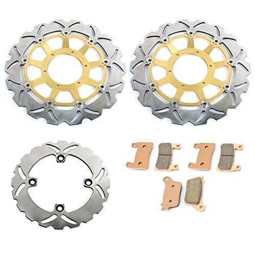nt Rear Brake Discs Rotor & Pads Kit for Honda VTR1000 RVT1000R RC51 00 01 02 03 04 05 06 07 ()