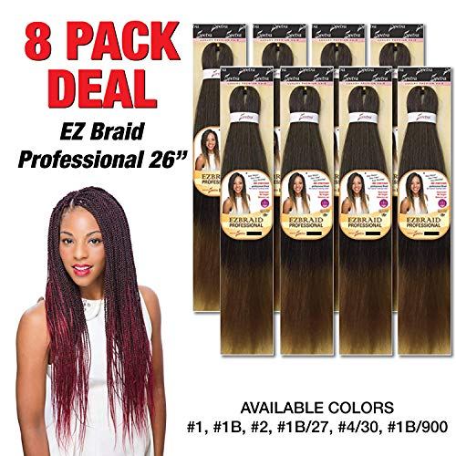 SPECTRA EZBRAID Professional Braiding Hair OH YES HAIR Itch Free Synthetic Braids MULTIPACK DEALS (8PACK, 1B)
