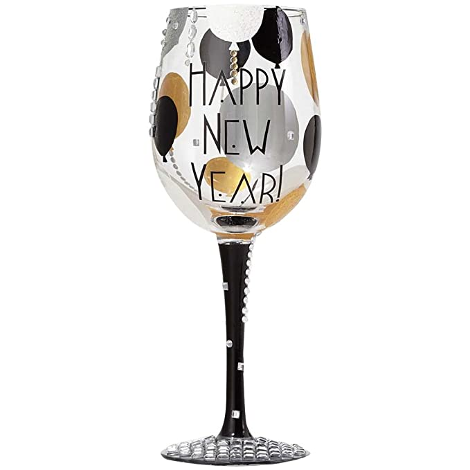 amazoncom lolita wine glass blinging new year wine glass by unknown kitchen dining
