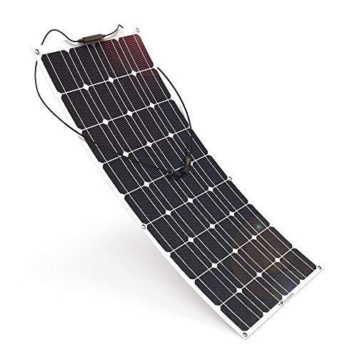 Placa Solar Flexible 12v 100w Monocristalino Autocaravana, Furgoneta o Barco
