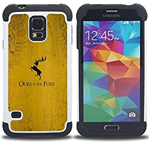 GIFT CHOICE / Defensor Cubierta de protección completa Flexible TPU Silicona + Duro PC Estuche protector Cáscara Funda Caso / Combo Case for Samsung Galaxy S5 V SM-G900 // Beautiful Serenity Island //
