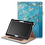 XBE Lenovo Tab 4 10 / Tab4 10 Plus 10 inch case - Multifunctional Cover Standing Case for Lenovo Tab4 10 / Tab4 10 Plus, with Multiple Viewing Angles and Auto Wake/Sleep Feature (Apricot Flower)