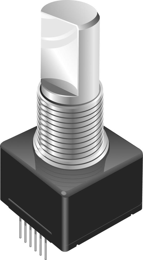 Bourns EM14C1D-E28-L032S Rotary Optical Encoder, 4.75 VDC to 5.25 VDC, 2 Channels, 120 RPM, EM14 Series
