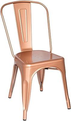 Fine Mod Imports Talix Chair, Copper/Galvanized Steel/Contemporary/Modern