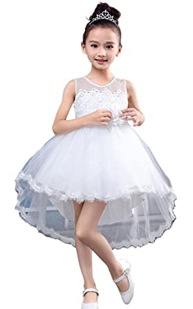 Vimans reg; Little Girls High Low Pageant Gowns Lace Tulle Flower ...