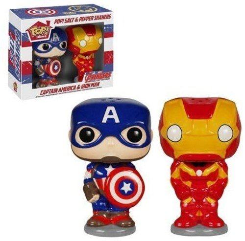 (POP Marvel Salt N' Pepper Shakers - Captain America Iron Man)
