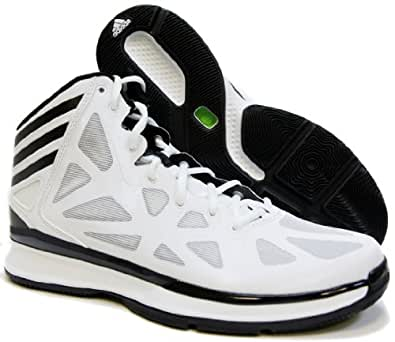 Adidas Mens Crazy Shadow 2 Basketball Shoes (17 D(M) US, Running White/Black)