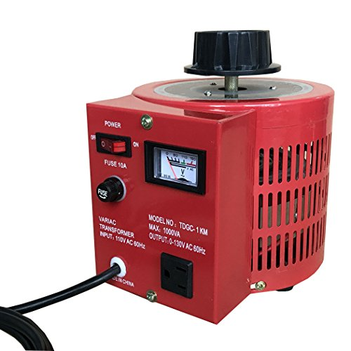 Beleeb 10 Amp Variac Auto Transformer AC Variable Voltage Regulator,1000VA, 0~130 Volt Output