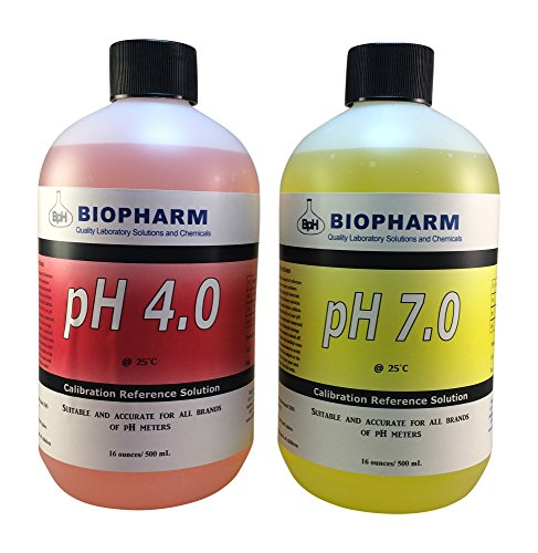 Poly Storage Tanks - Biopharm Buffer Calibration Test Kit 2-pack 16 oz (500 mL) pH 4.0 & 7.0-For Precise and Accurate Calibrations, Designed for Hydroponics, Aquariums, Pools and Aquaponics- Ideal for ALL pH Meters