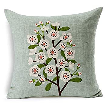 Amazon.com: BBB1233 Flower Decorative Pillows Home Car Tree ...