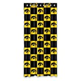 Customize Ncaa Iowa Hawkeyes Window Curtain for Living Room, Bedroom, and Kids Rooms Polyester Window Curtain 50