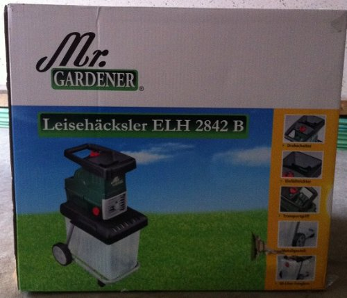 Mr. Gardener ELEKTRO LEISEHÄCKSLER GHS 2842B incl. Box