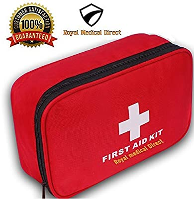 Tactical First Aid Kit: First Aid Kit 180 piece - Royal Medical Direct - Small and Light for Travel, School, Car, Emergency, Survival, Camping, Hiking, Office, Hunting, Sport and Home by Royal Medical Direct