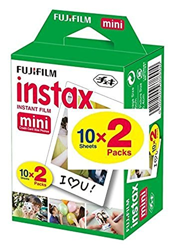 Fujifilm Instax Mini Film 20 Prints for Fuji 8 50s 25 7s 90 300, Full Color, Twin - North Mall Of The Pictures