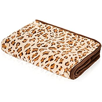 """SmartPetLove Snuggle Blanket for Pets, 48""""L by 30""""W, Leopard"""