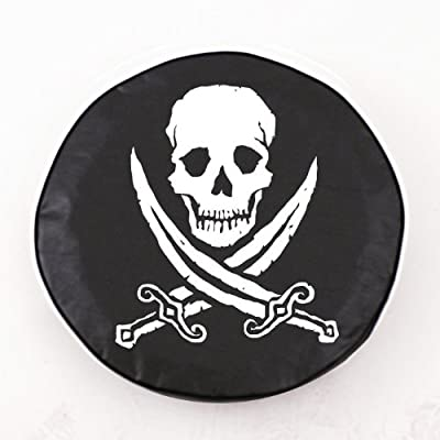 Holland Bar Stool Jolly Roger (Rough) Tire Cover In Black
