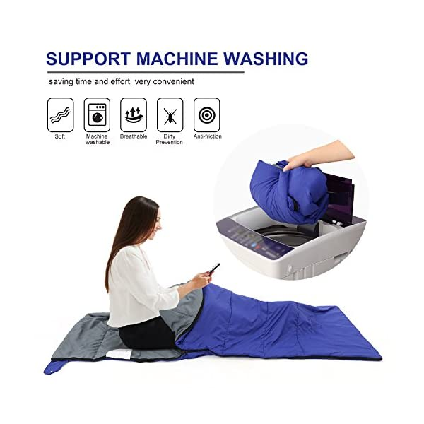 Andake Envelope Sleeping Bag, Machine Washable Lightweight Splash-Resistant with Compression Sack Great for 3 Season Indoor & Outdoor Use, for Hiking, Camping, Backpacking, Traveling (Single/Double) 4