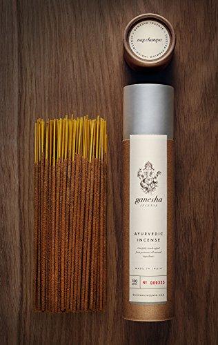 The Original Nag Champa by Ganesha Incense - Premium Natural Ayurvedic Incense Sticks (100g / 3.5oz) Made in India by Artisan Incense Makers