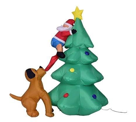 Amazon.com: ZYX - Árbol de Navidad hinchable con flores de ...